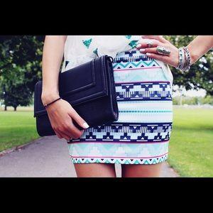 Zara Aztec Print Mini Skirt